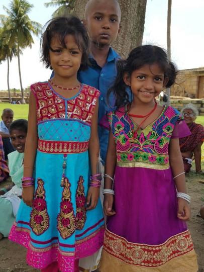 Three kids who wanted their photos taken