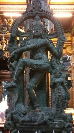 Shiva dancing in granite