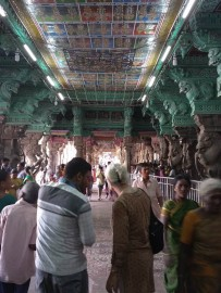 On the right the pilgrims are singing up for Hindu only shrine