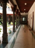 The corridor outside our room (old dining room)