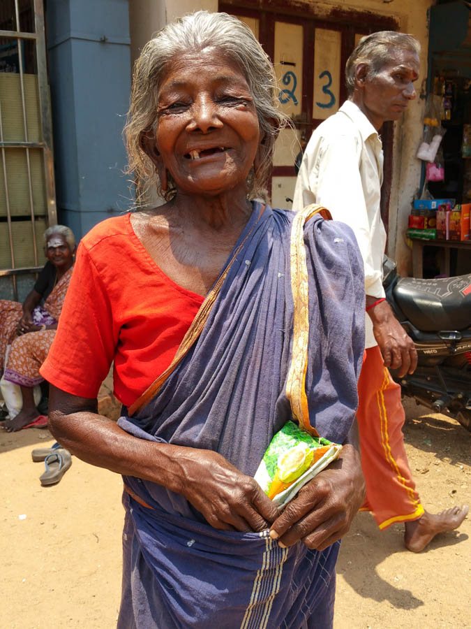 Gave this old crone some money and she was very happy!