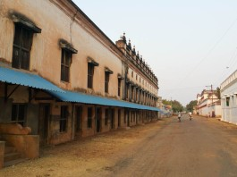 Deserted main street in our village