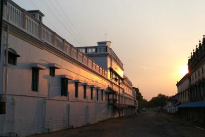 Sunset in the deserted Chettier village
