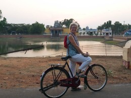 Cycling round the village