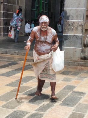 Ancient devotee at Nataraja temple