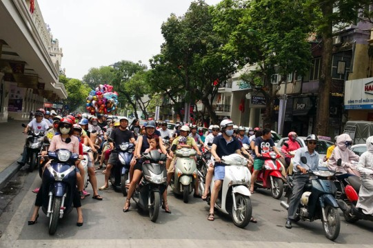 Scooters everywhere