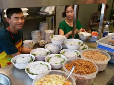 Lunch prep at Bun Bo Nam Bo