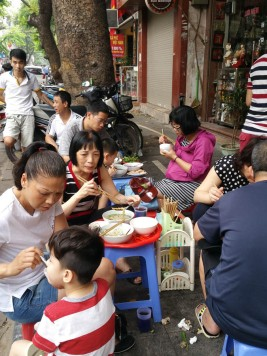 Breakfast on the street