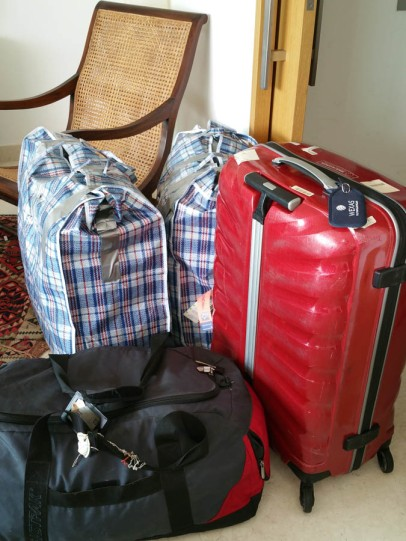 My luggage waiting to go...