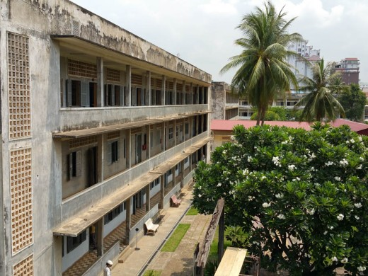 The school building that housed the interrogation centre
