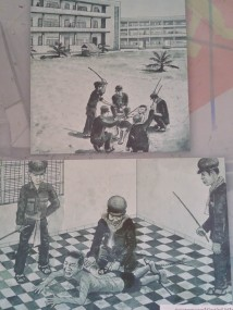 Drawings made by one of the survivors