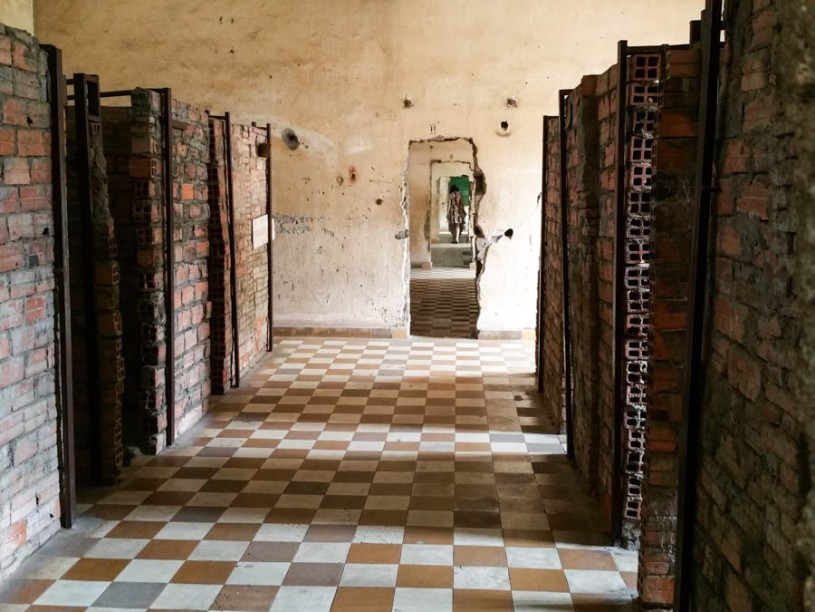 Toa Sleng: The cells where prinsoners were shackled
