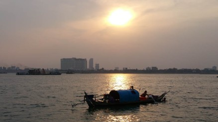 Sunset on Mekong