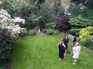 Little Owen enjoys the garden