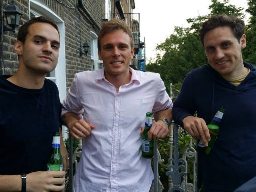 Tommy's posse - Lucian, Tom P and Simon