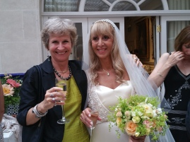 with the bride!