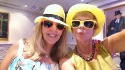 Jane and I feeling yellow