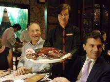 Andrew Dobson and the Peking duck