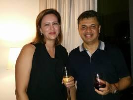 Sabiha with Sanjay Sharma