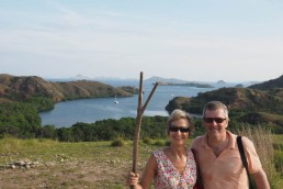 On Rinca, with the forked stick
