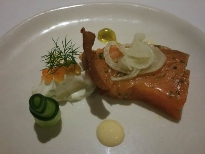 Cape Lodge tasting menu - trout