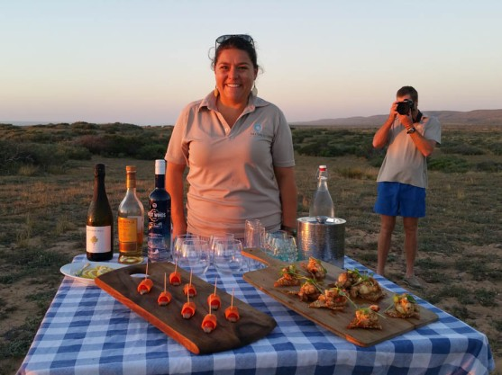 Canapés - Paul Bester is a professional photographer, even when he's working on another job!