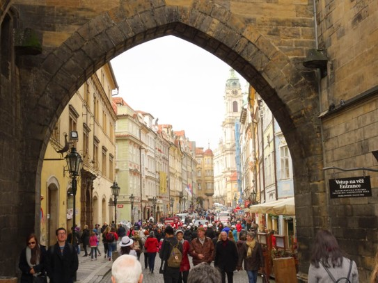 Arch to New Town, just over Charles Bridge