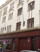 The Escompte Bank, now a hotel, in Senovaznana