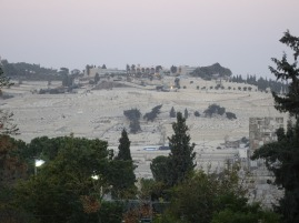 Mount of Olives in the dusk