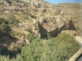 The gorge approaching Jerusalem
