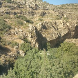 The gorge approaching Jerusalem