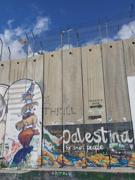 The wall that divides Bethlehem from Israel