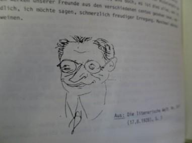 Caricature of Hermann Ungar