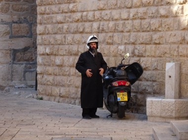 Even Orthodox Jews ride mopeds