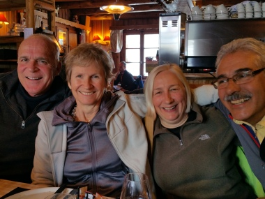 Boxing day lunch - John Pooler, Jane Hindley and Diego