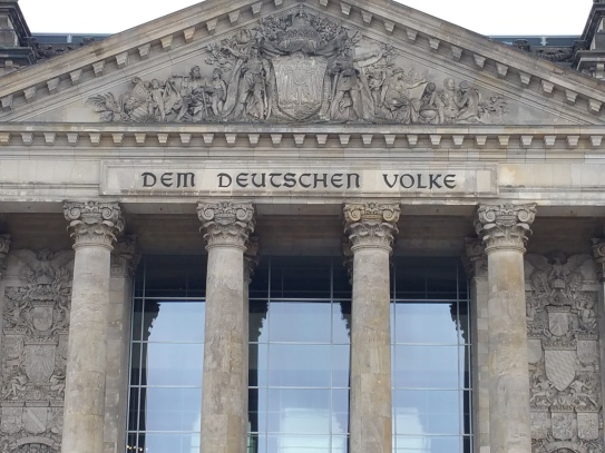 The inscription on the Reichstag
