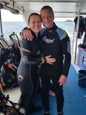The devoted divers Paul and Kay