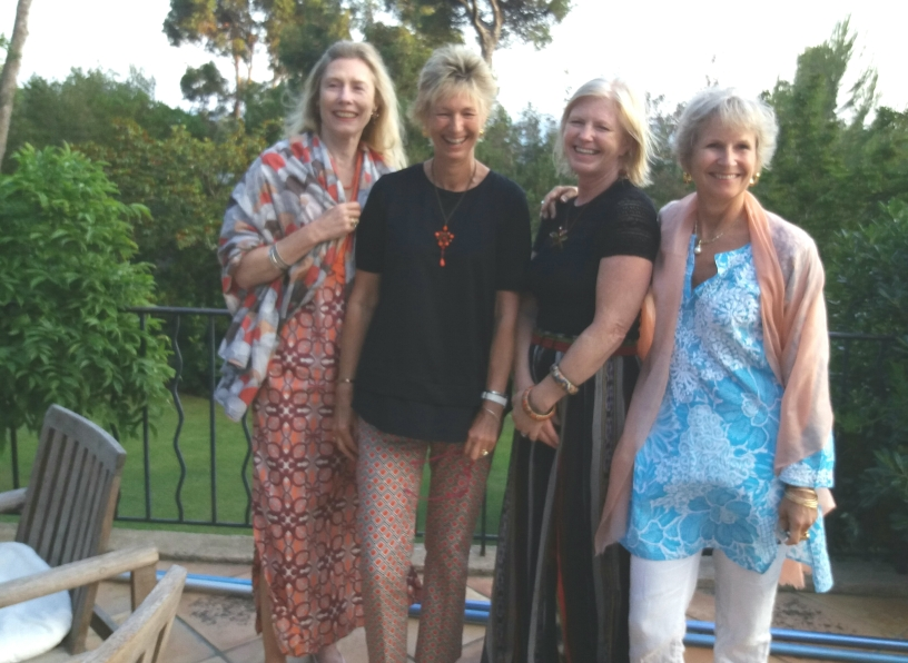 The girls: Clare, Debbie, Chrissie and moi