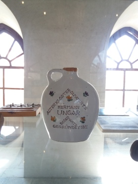 The slivovitz jar in the synagogue