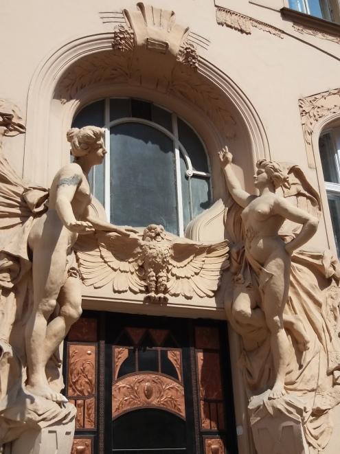 Art Deco doorway in Josevov