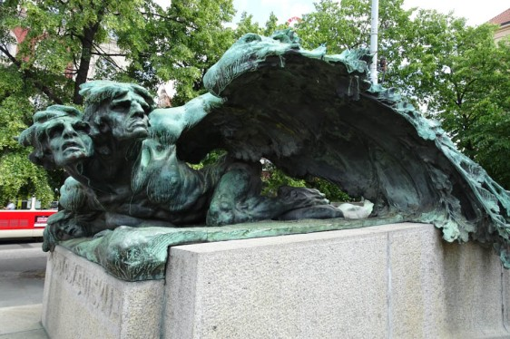 Satanic figure eating fulture