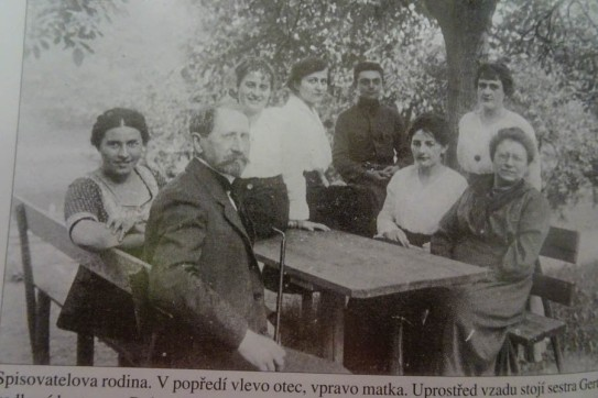 Family photo: Emil (foreground) and his wife Jeannette (front right), Blanka Totis, Hermann's first love (standing behind her) and Gerta, Hermann's sister, seated next to Jeannette