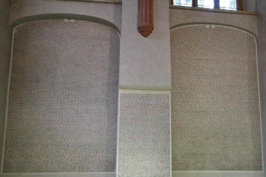 Inside the Pinkas synagogue
