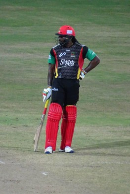 Chris Gayle from the front