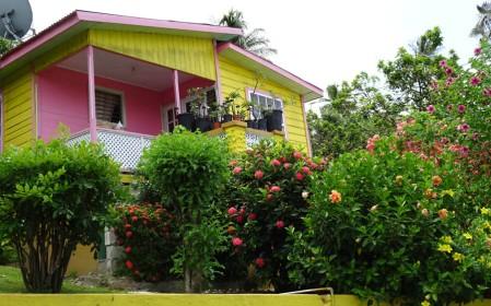 Colourful house in Bathsheba