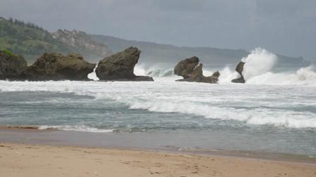 The famous rocks at Bathsheba