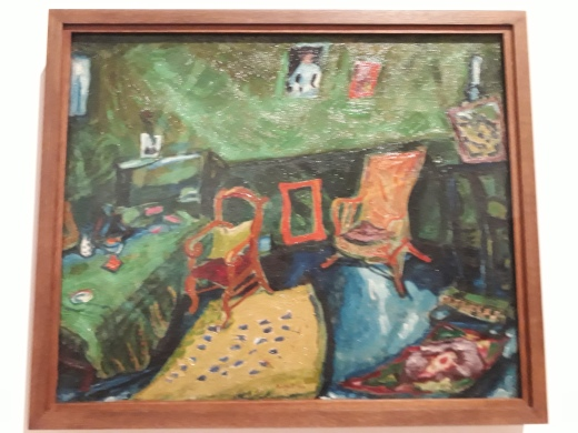 Chagalls' room in Paris.Background is testament to his missing Bella - her sting is on the wall.