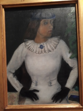 Here is the painting of Bella Chagall took with him to Paris.