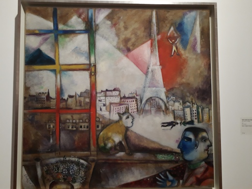 Paris through the window - from Chagall's perspective! (1913)