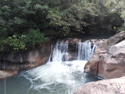 The 'nearby' waterfall